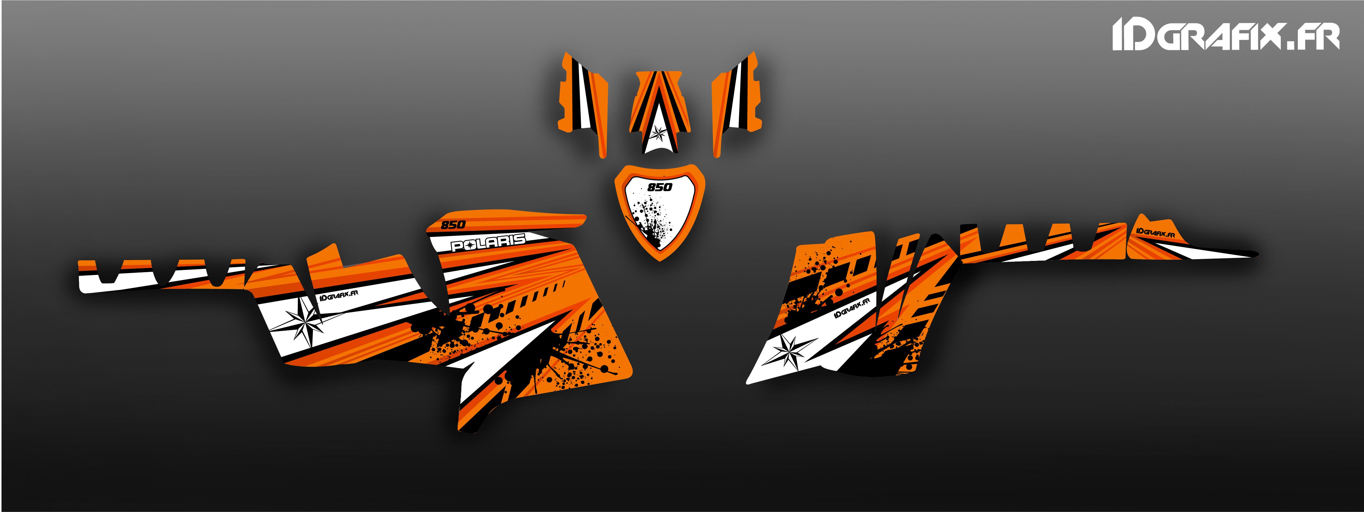 Kit déco client \u2013 Polaris 850 XPS Sunset Orange
