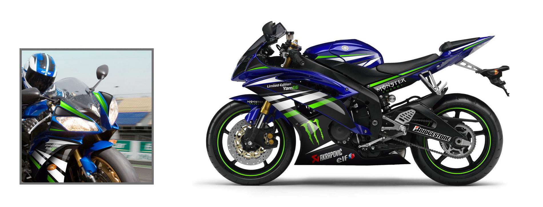 Kit déco idgrafix pour concession Yam66 \u2013 Yamaha R6 Monster energy