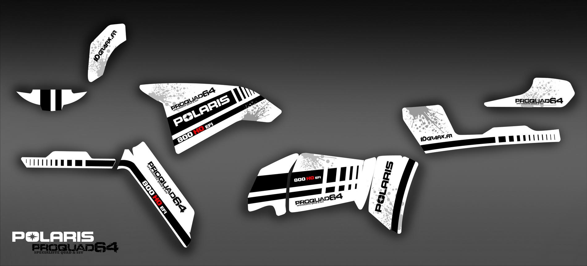Maquette kit déco Idgrafix pour Polaris 800 sportsman. Maquette 500 Sportsman pour laurent rieux sur fond