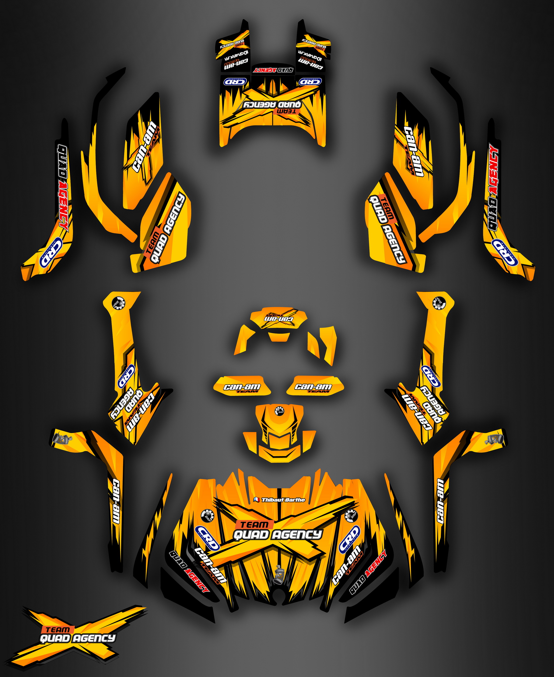 Kit déco idgrafix pour le Team quad agency 66 , Can Am 1000 Outlander