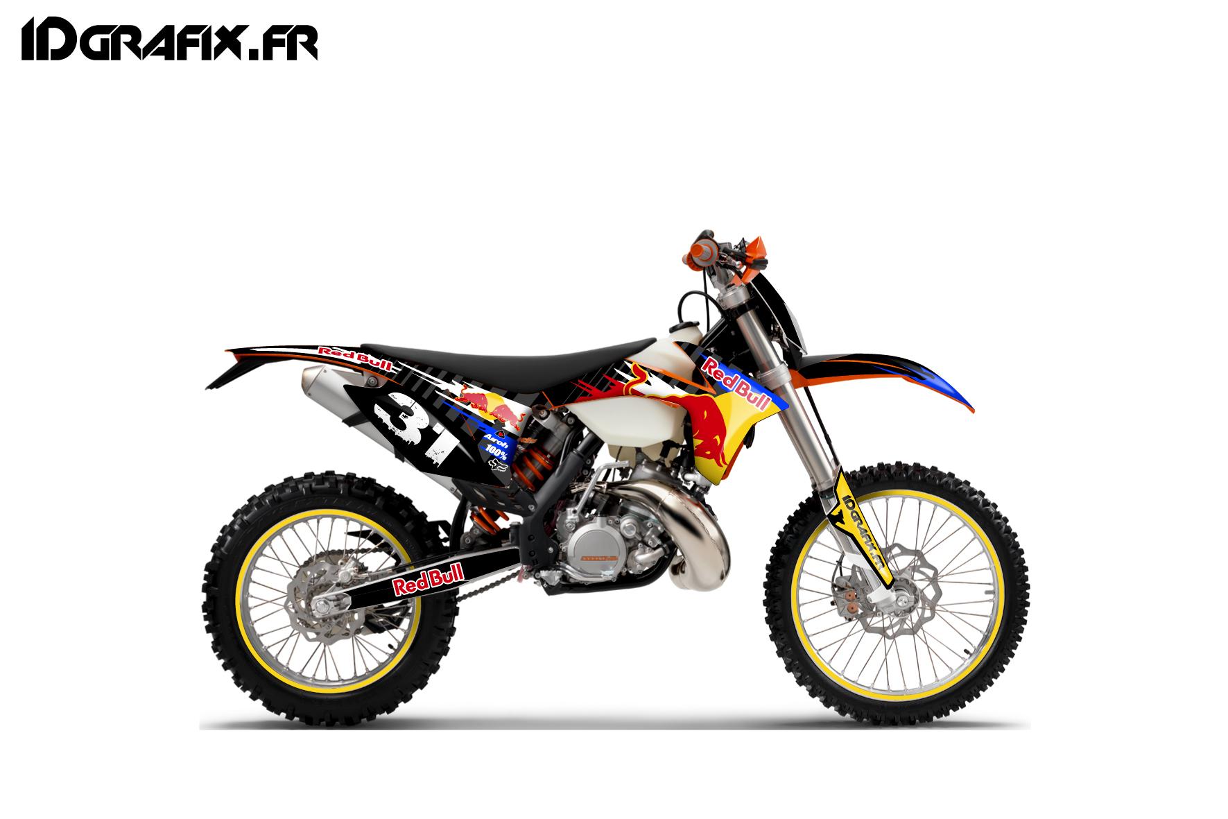 Kit déco client pour KTM 300 EXC by Idgrafix.fr. 300exc Monster Assault 300exc redbull