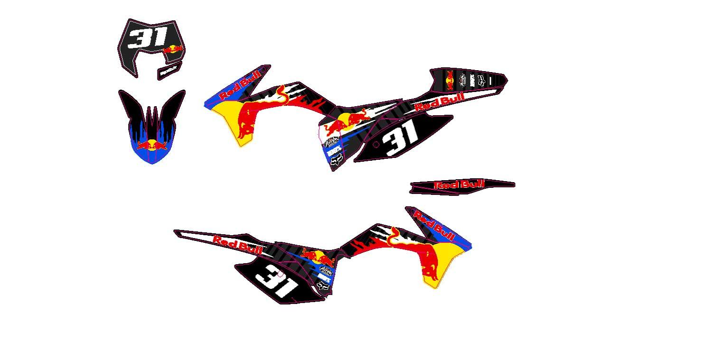 Kit deco KTM EXC 250 300 450 Redbull \u2013 Perso Client