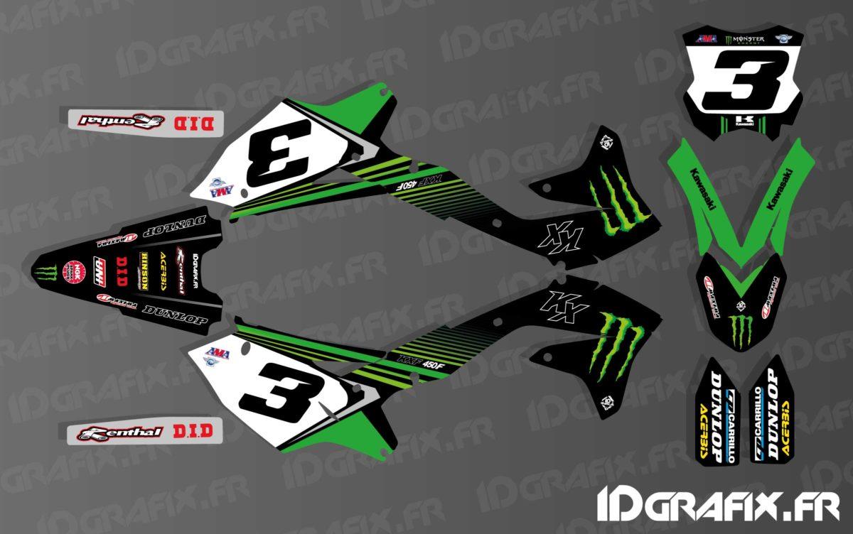 Kit déco Eli Tomac Réplica 2019 pour Kawasaki KX/KXF